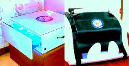 Covid19 Currency Scanner cum sanitizing gadget developed by Indian DRDO.